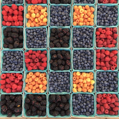 All berries are high in antioxidants and have inflammation fighting properties.