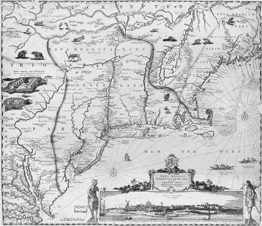 Colonial New England Map