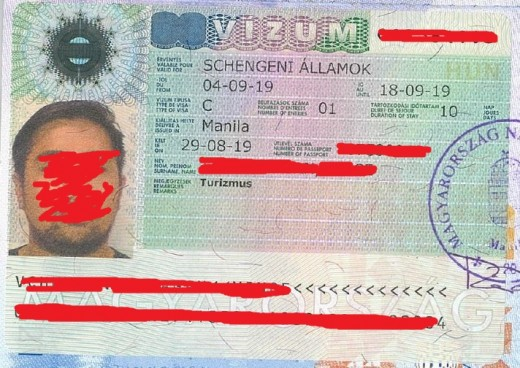 Schengen VISA that I used to attend my brother's graduation