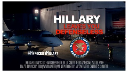 Past NRA ad, attacking Hillary Clinton