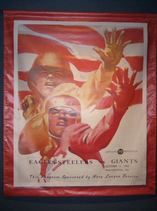 "Program for ""Steagles"" vs. Giants at Shibe Park, 1943 (in Football Hall of Fame)"