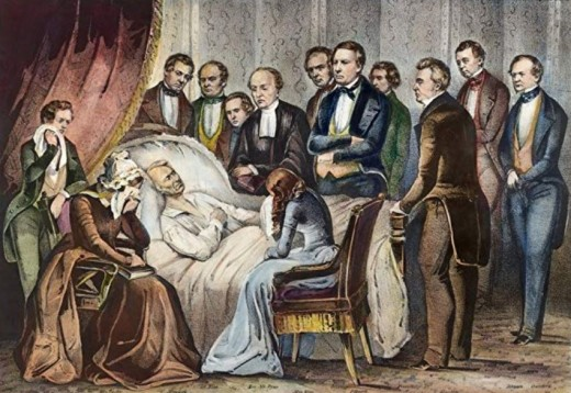 Zachary Taylor on his deathbed.