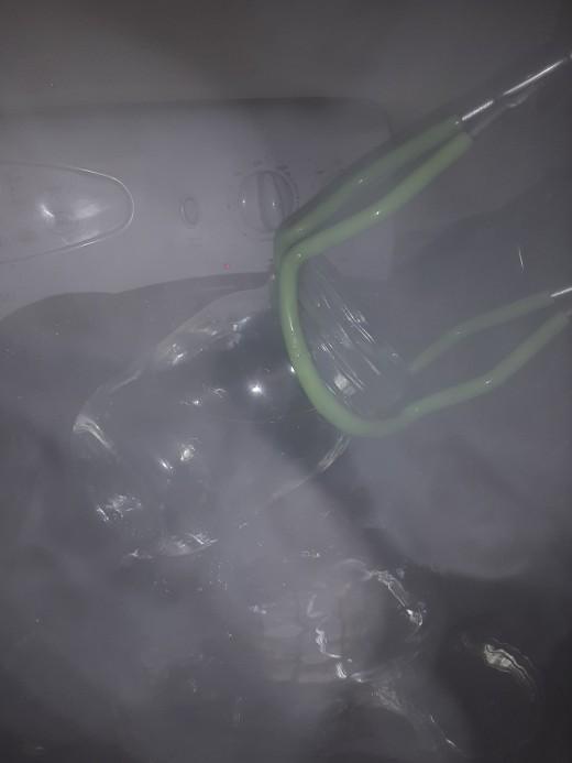 Removing sterilized jars