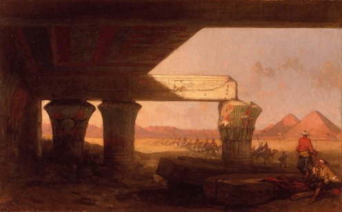 I searched the pyramids of Egypt, only the memory was there  (David Roberts painting)