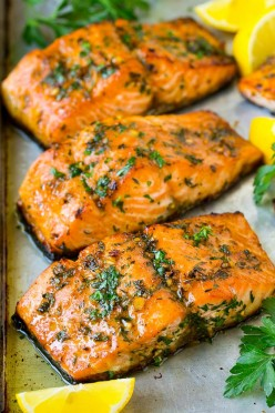 Maple Syrup Roasted Salmon