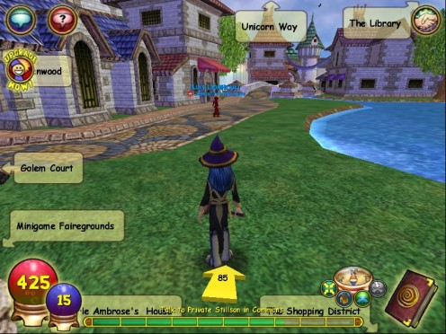 This is my Rowan going onto her first Quest! Notice the yellow arrow and the other signs.