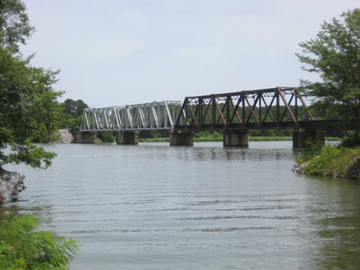 Historic railroad bridge is still in use