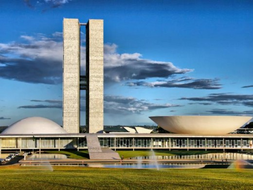 Government buildings at Brasilia, still reflecting a futuristic air after all these years