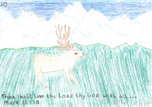 Thou shalt love the LORD thy GOD with all . . .,  Mark 12 : 30, drawn out on Friday the 18th January, 2019.