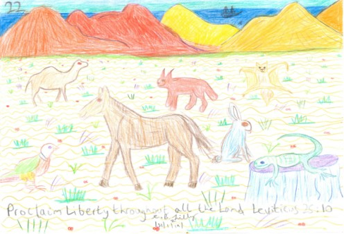 Proclaim Liberty throughout all the Land, Leviticus 25 : 10, drawn on Thursday the 31st of January, 2019.