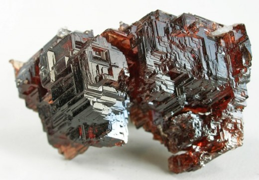 January's birthstone is garnet. This is a naturally etched red spessartine garnet from Brazil.