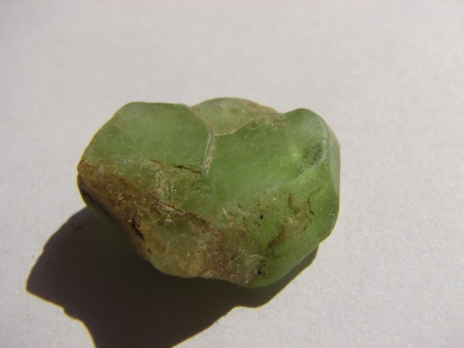 August's birthstone is peridot. This peridot specimen is from Pakistan.