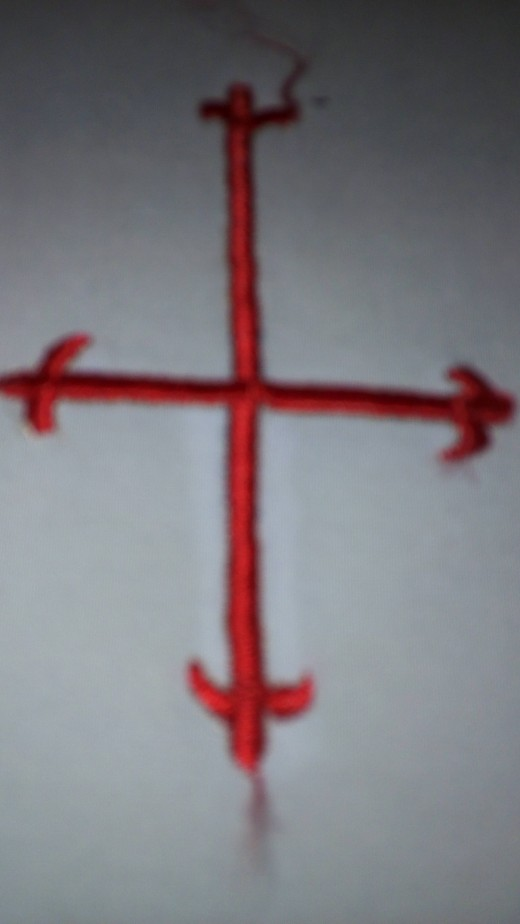 All the Sacred Linings - the Corporal, Purificator and Finger Towel - is marked with a symbol of the Cross. The Amazon Synod must not be an exemption.