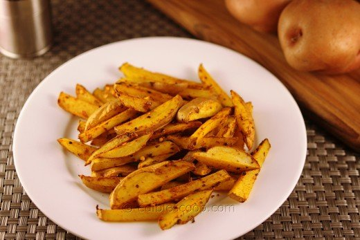 Spicy Baked Red Potato Fries