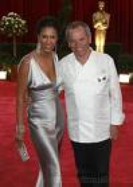 Gelila Assefa and Wolfgang Puck