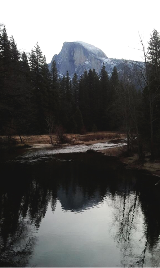 Taken by a dear friend of mine of Half Dome at Yosemite National Park, CA.
