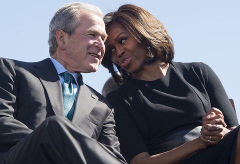 George W. Bush and Michelle Obama's Friendship History.
