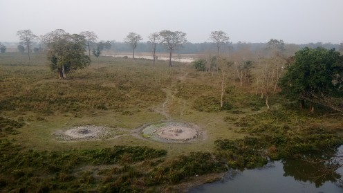 Salt reservoirs close to Rhino Point