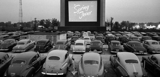 A standard drive-in from the early 1950's, a staple of summer vacations