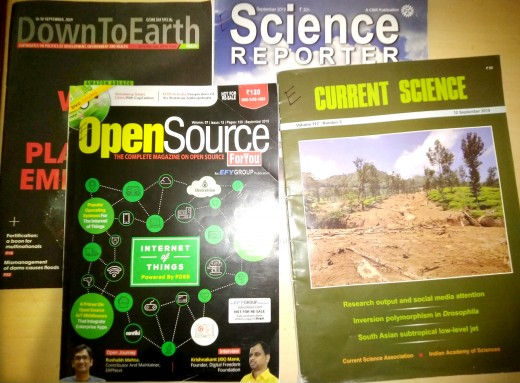 Printed versions of Indian science magazines