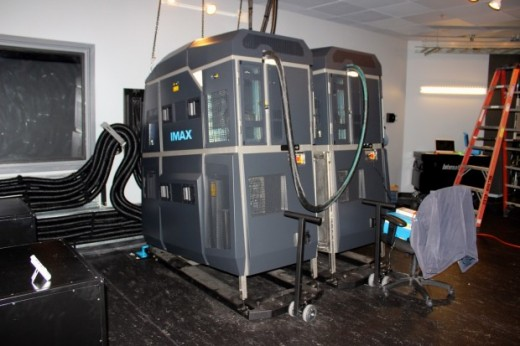 IMAX laser projectors, which make the new technology possible