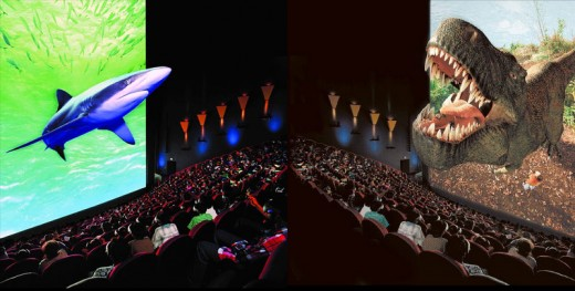 This projection shows what IMAX technology is capable of in today's movie theatres