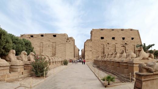 Amun re temple at karnak