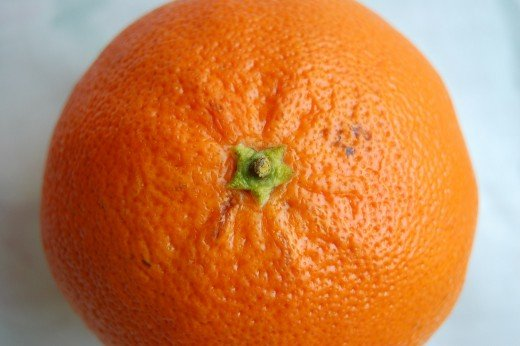 Cellulite dimples can resemble the texture of an orange peel.