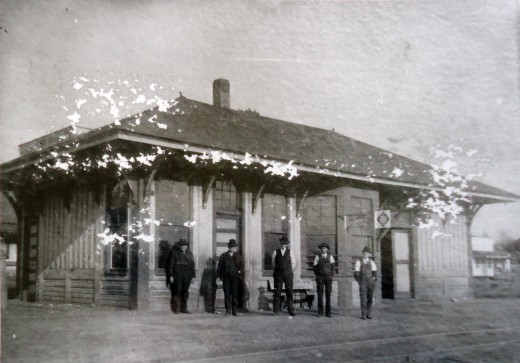 Poteau's first railroad depot