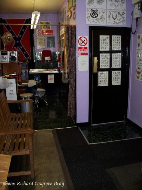 Richie Tattoo Artist's studio at 24 Newington, Liverpool.