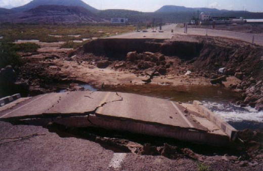 This what hurricanes do to roads in South Baja.  A clubcruceros photo