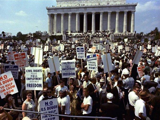 The March on Washington was a massive protest march that occurred in August 1963, when some 250,000 people gathered in front of the Lincoln Memorial in Washington, D.C.