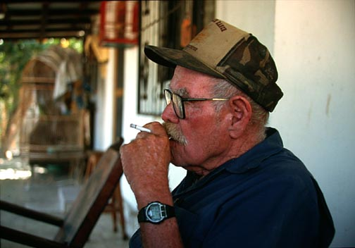 My great friend, the late Jimmy Smith.  Most popular legend in South Baja.  Juliet caused crisis as Jim ran out of cigarettes! (see Hub soon on Jim)