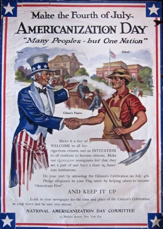 Americanization sought to homogenize the American masses