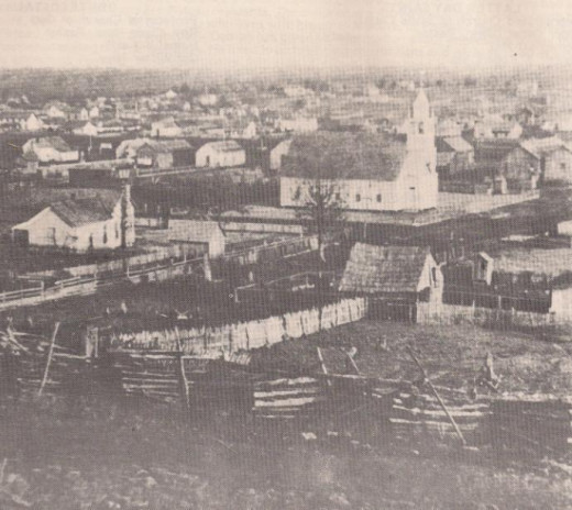 Birds-eye view of Poteau