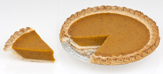 Pumpkin pie is popular in America and it tastes delicious!
