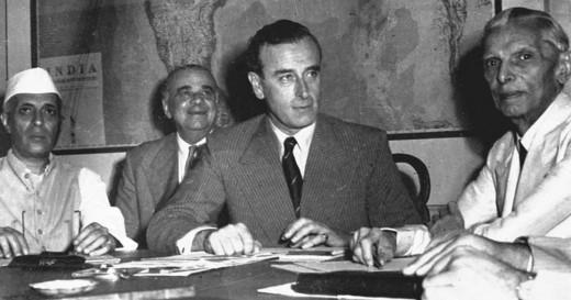 Nehru.Lord Mountbatten and Jinnah