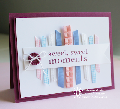 Ribbon scraps make this lovely greeting card more colorful