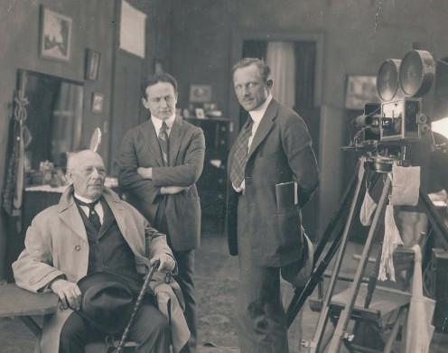 Harry Houdini at movie studio
