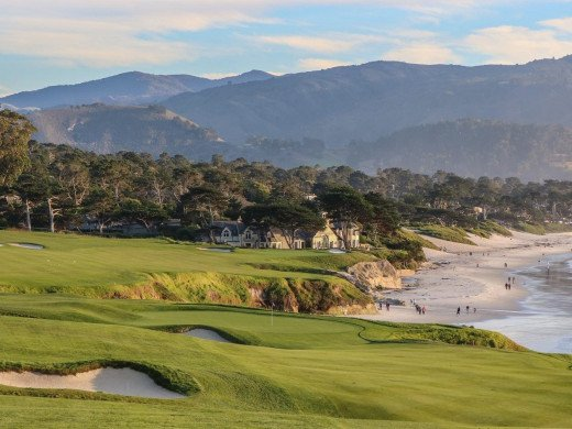 A view of the 9th hole at Pebble Beach. Celebrating its 100th anniversary last summer, the famed golf links has witnessed as much corporate drama in its history as it has golf.