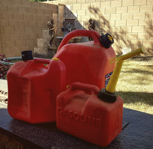 Three Gas Cans