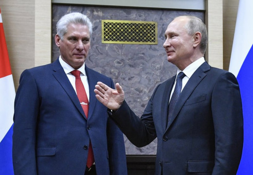 President of Cuba Miguel Díaz-Canel and Russia's President Vladimir Putin