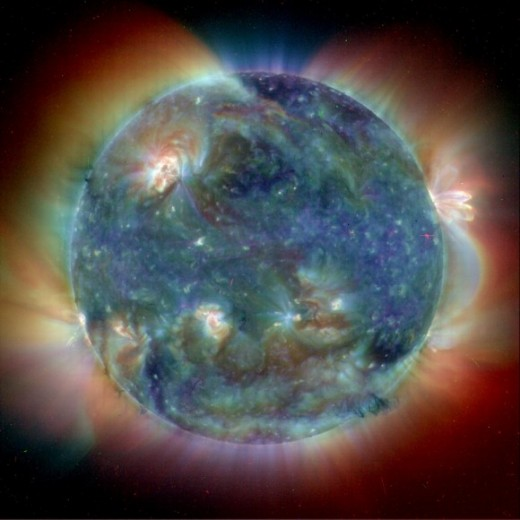 Ultra violet view of the sun.  Image Credit:  SOHO