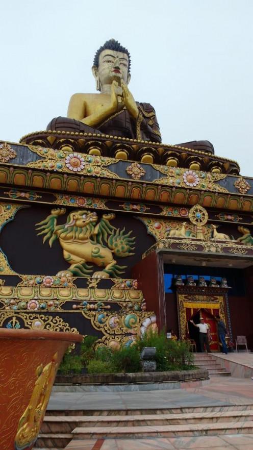 The statue of Gautam Buddha and the beautiful design