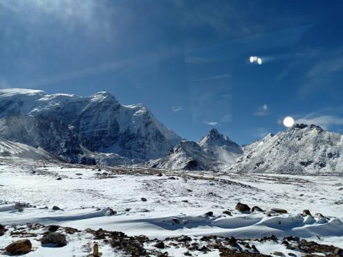 The road to Gurudongmar Lake, North Sikkim, India