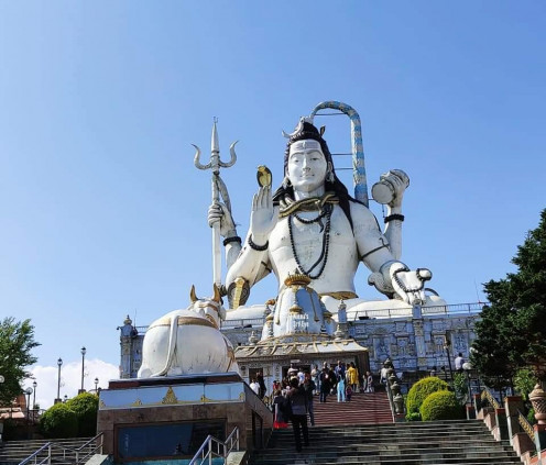 Lord Shiva blessing in the sitting position