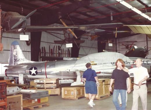 A T-33 at the Paul E. Garber facility, Silver Hill Maryland, circa 1990.