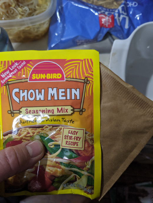 Chow Mein seasoning and seasoning from rice a roni