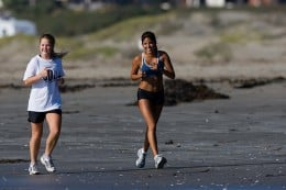 Young women jogging, by mikebaird.