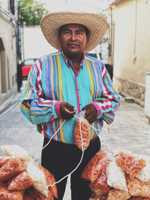 Mexican man wearing a sombrero